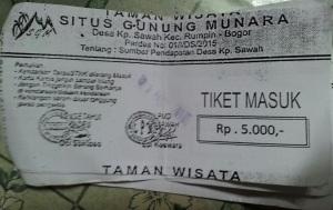 tiket masuk gunung munara