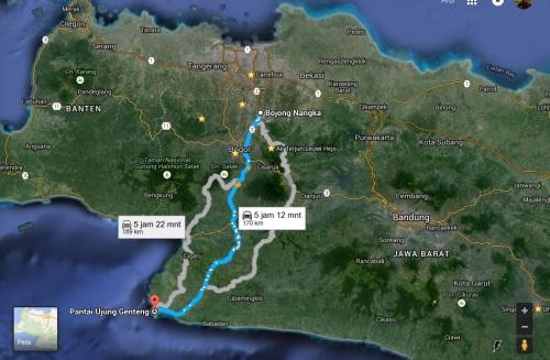 Trip to Ujung Genteng dari Gunung Putri Bogor